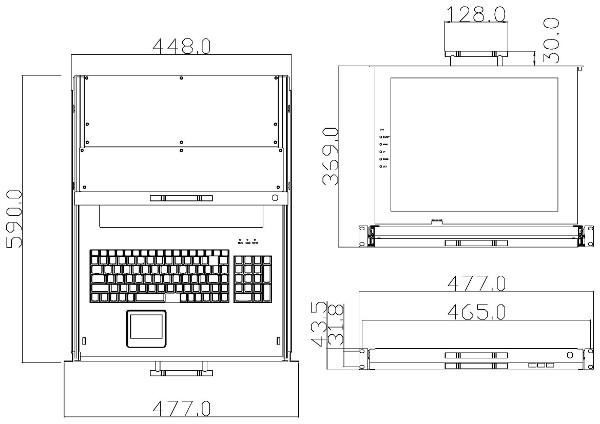 17 tft schubladen korat 1701dvi. Black Bedroom Furniture Sets. Home Design Ideas